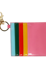 packed party rainbow bright card holder keychain