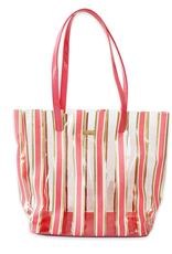 packed party stripe here and now tote