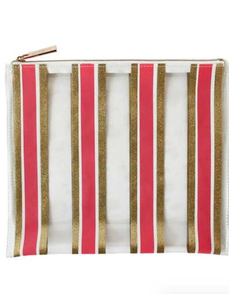packed party stripe here and now pouch