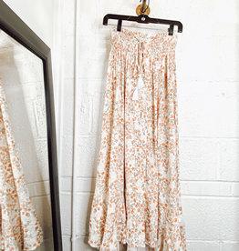 olivia floral maxi split skirt