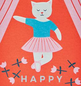 birthday ballet cat card