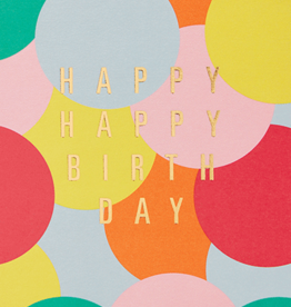 Calypso cards happy birthday dots card