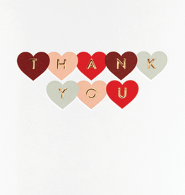 Calypso cards thank you hearts card