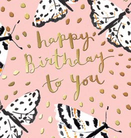 Calypso cards happy birthday butterflies card