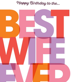 offensive and delightful happy birthday best wife card