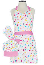 sprinkles deluxe child boxed apron set