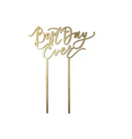 Worthwrite Goods best day ever cake topper