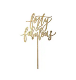 Worthwrite Goods fourty and fabulous cake topper FINAL SALE