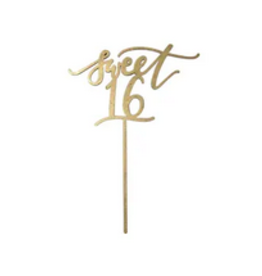 Worthwrite Goods sweet 16 cake topper FINAL SALE