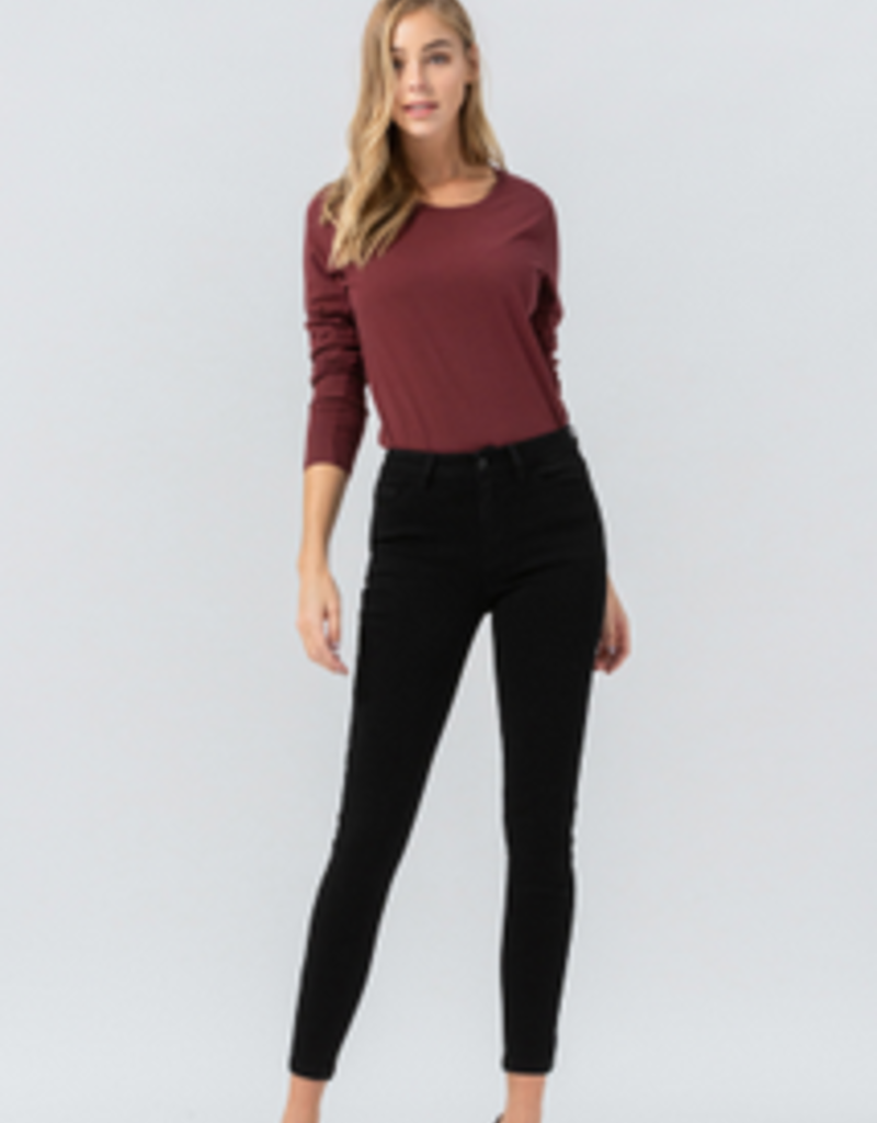 flying monkey mid rise super soft cropped skinny jean