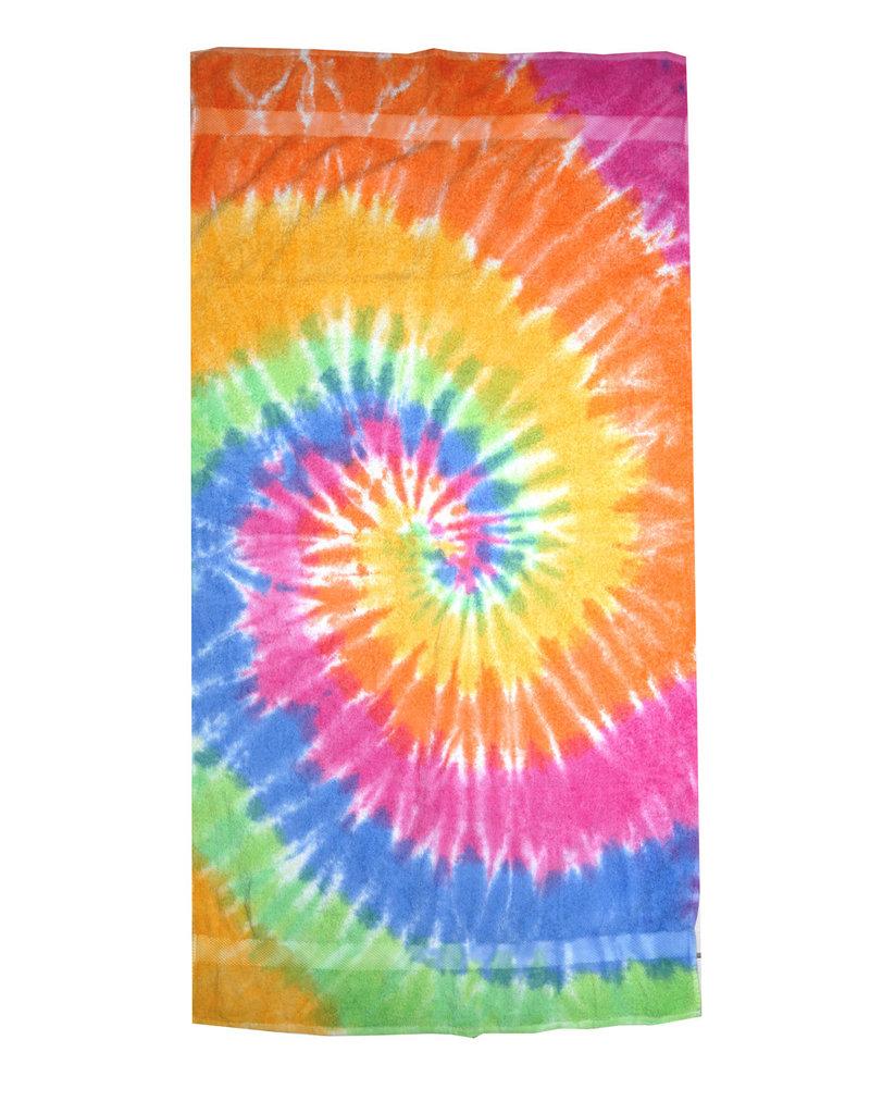 R+R tie dye beach towel