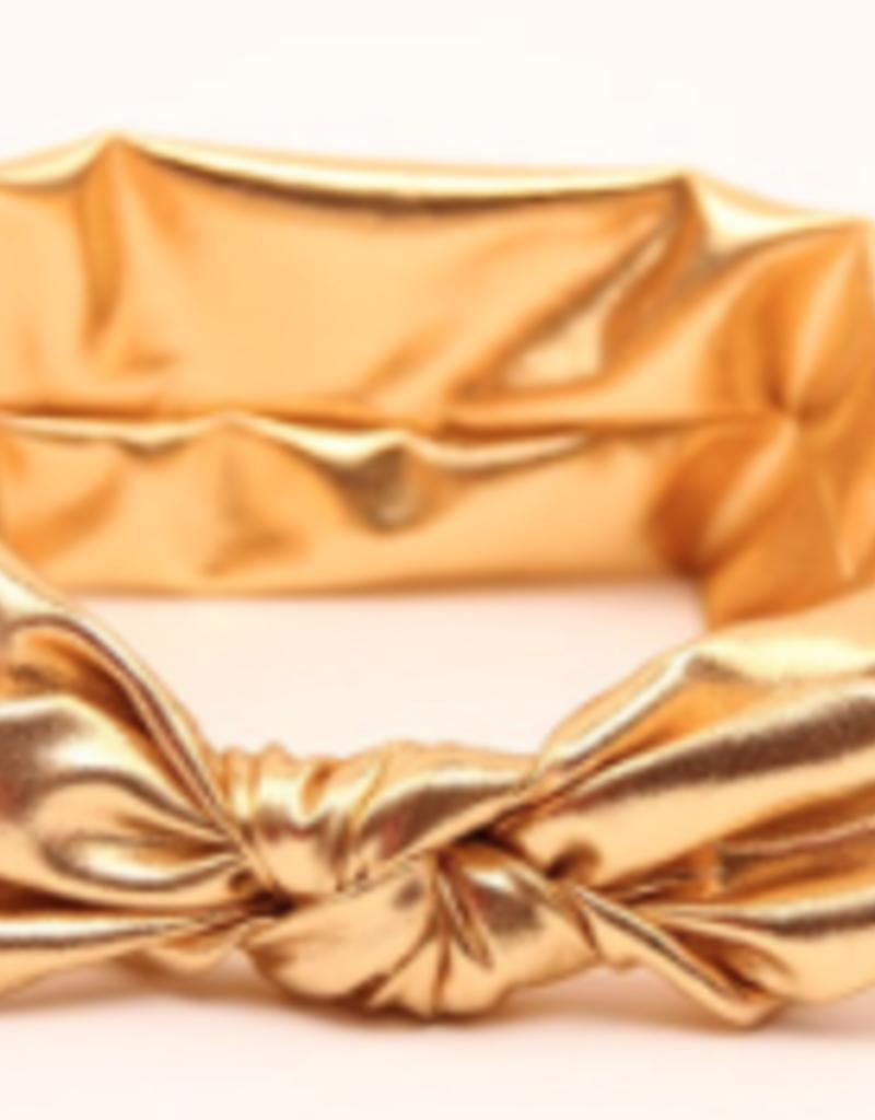metallic knotted headband