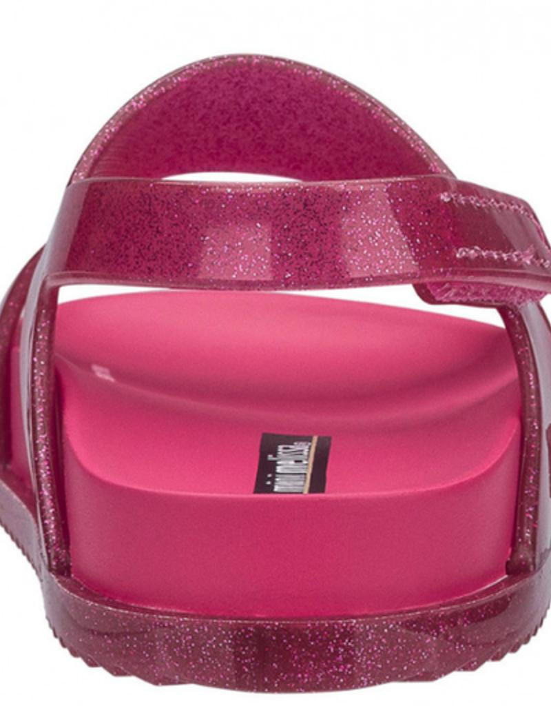 mini melissa mini cosmic sandal pink glitter