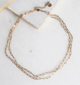roslyn double chain necklace