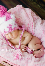 roxy pink poodle hat