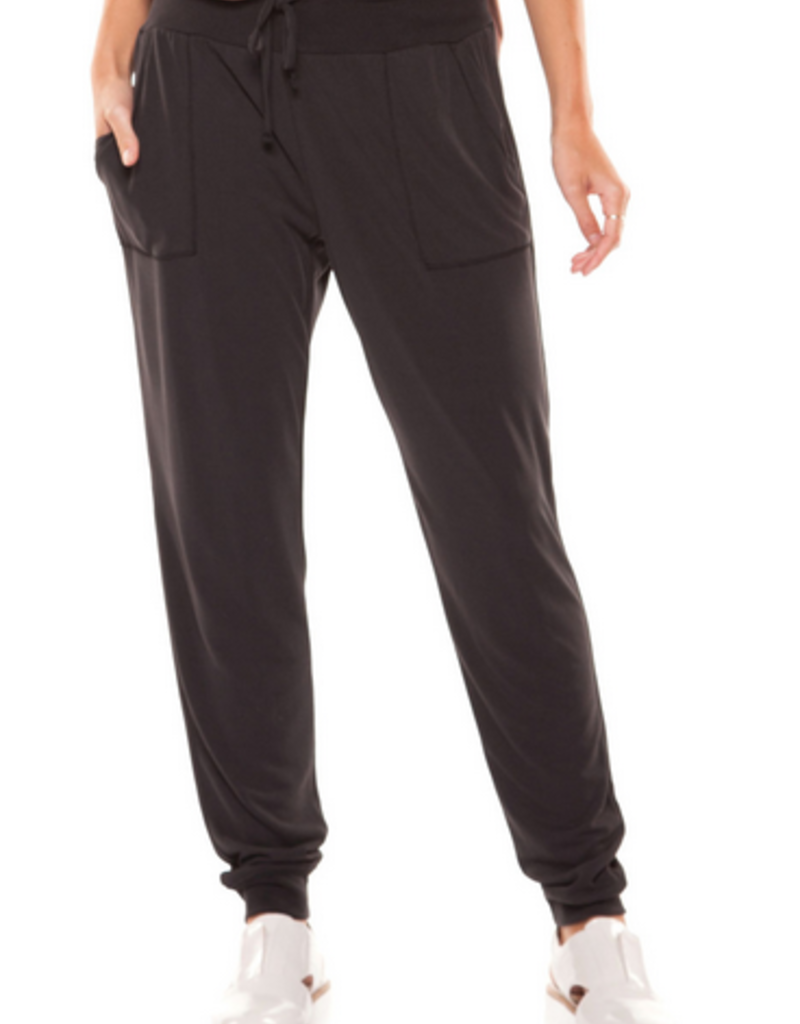 dex jogger pant with rib waistband and cuff
