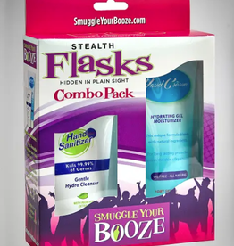 smuggle your booze hand cream and hand sanitizer combo pack flasks