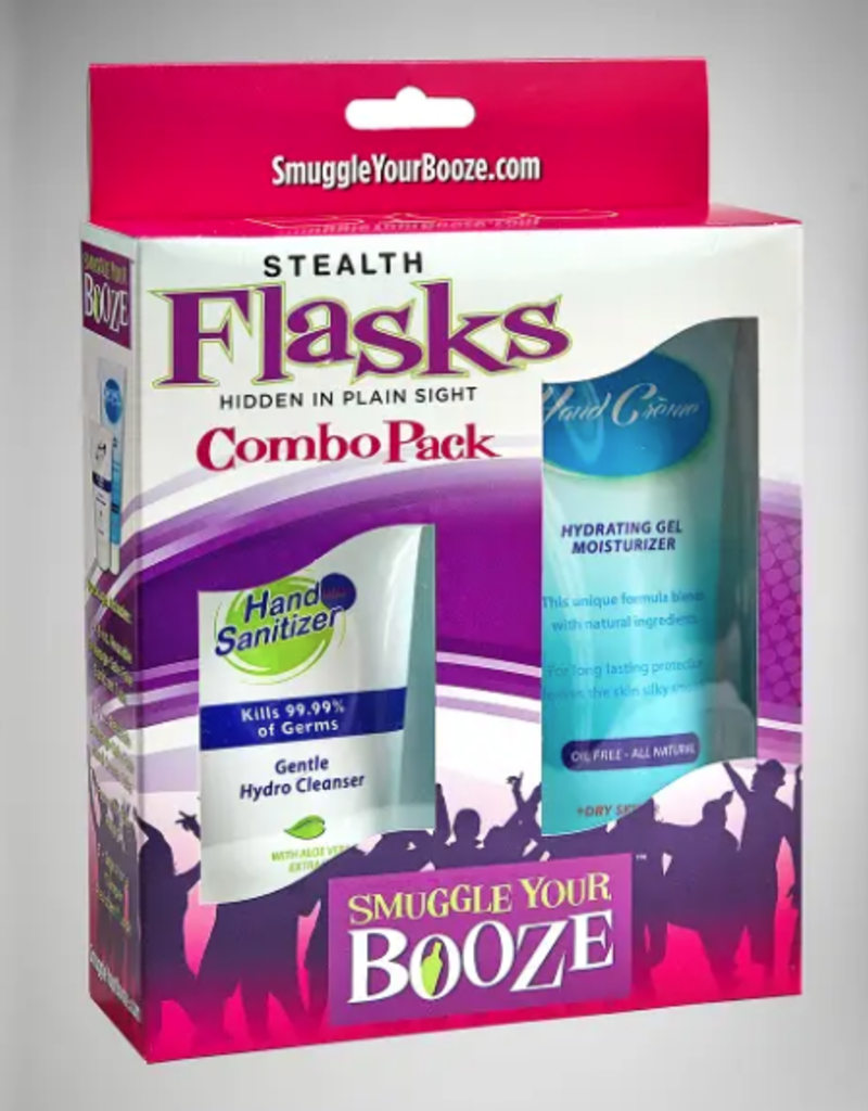 hand cream and hand sanitizer combo pack flasks