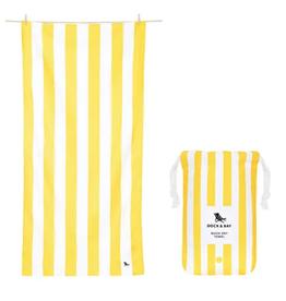 dock & bay boracay yellow quick dry towel