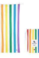rainbow skies quick dry towel