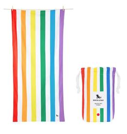 dock & bay rainbow skies quick dry towel