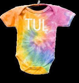 R+R infant tie dye onesie