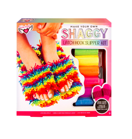 fashion angels make your own shaggy latch hook slipper kit