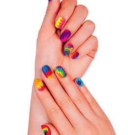 fashion angels neon tie dye nails - mani design kit