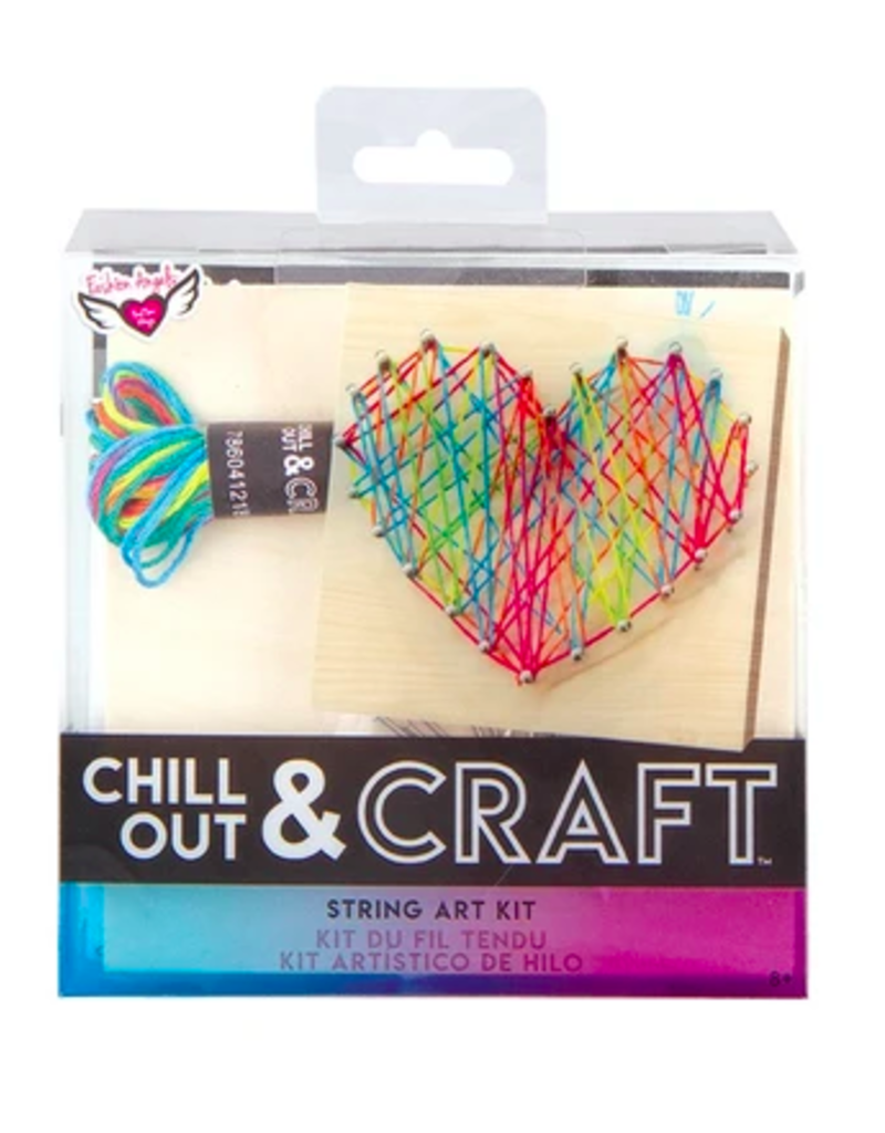 fashion angels chill out & craft rainbow string art