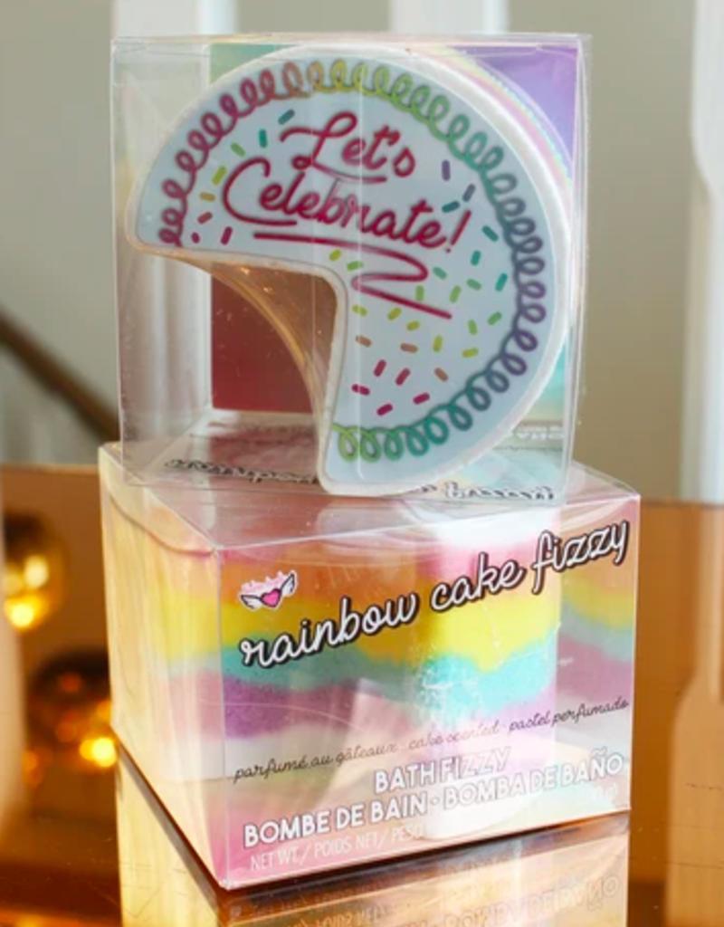 fashion angels jumbo rainbow cake bath fizzy