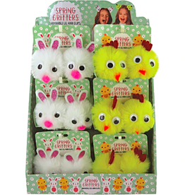 spring critters hair clips