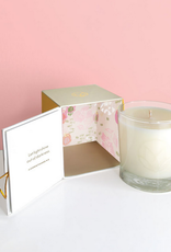 champagne and rose candle