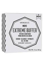 spongelle mens extreme body wash infused buffer - bergamot absolute