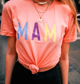 alphia multi color mama tee