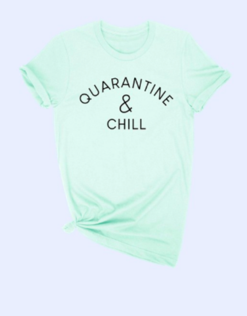 alphia quarantine and chill tee