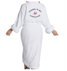 chanel love language luxe plush robe