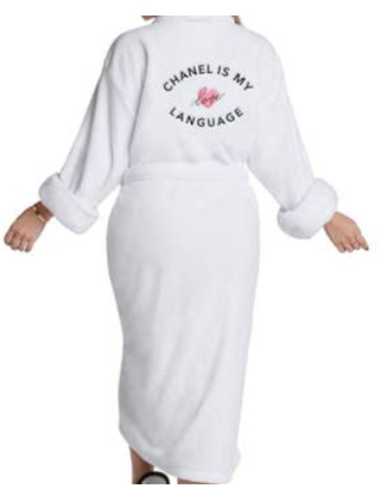 chanel love language luxe plush robe