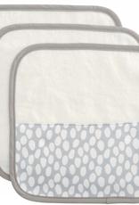 3 pack washcloths grey dot