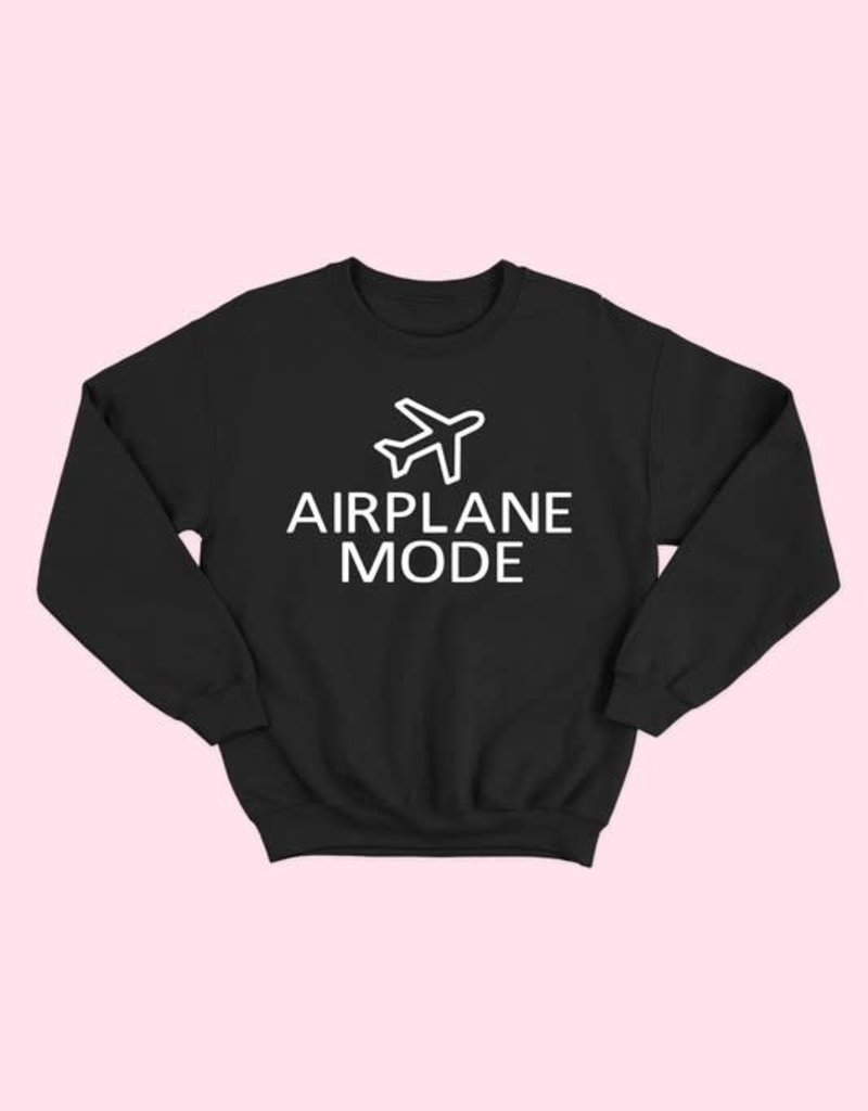 alphia airplane mode sweatshirt FINAL SALE
