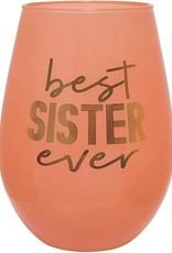 best sister ever 30oz stemless wine glass