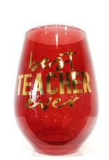 best teacher ever 30oz stemless wine glass