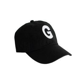 black initial baseball cap