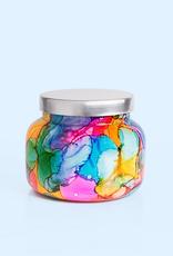 capri blue volcano rainbow watercolor jar 19oz