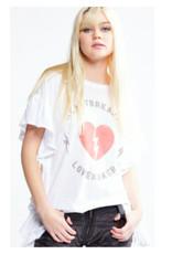 heartbreaker side ruffle tee final sale