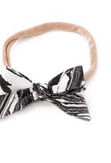 marble bow headband