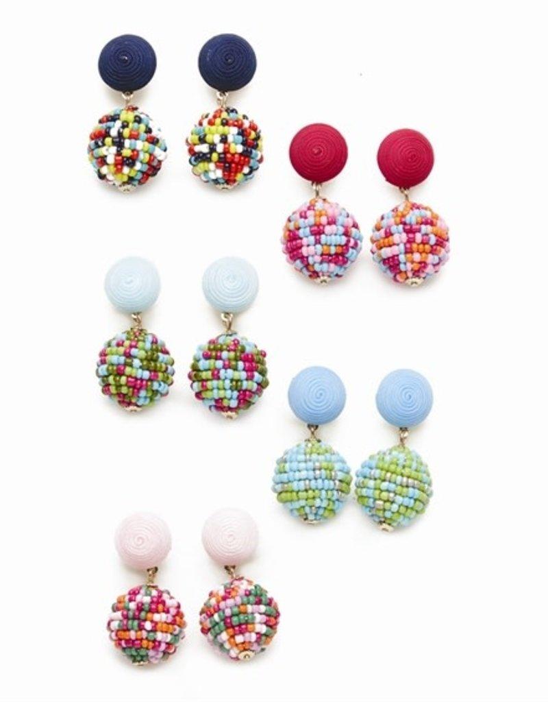 two's company ball drop earrings