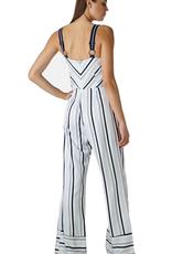 ava woven striped jumpsuit FINAL SALE