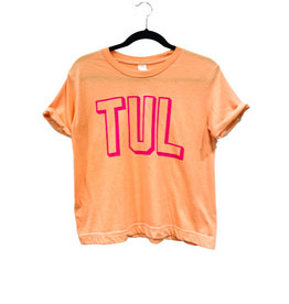 R+R TUL cropped shadow tee