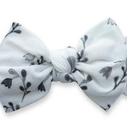 Baby Bling black tulips printed knot headband
