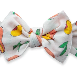 Baby Bling just peachy printed knot